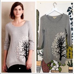 Anthro HWR Tree Sweater